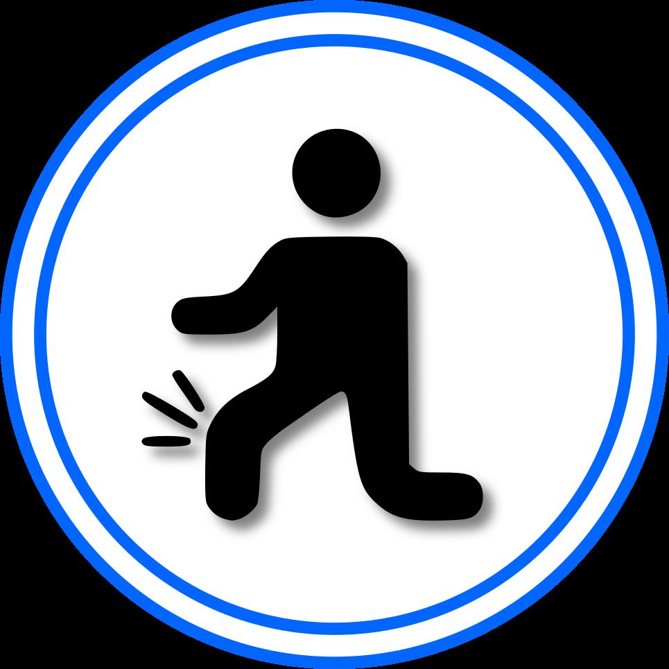 athlete pain icon